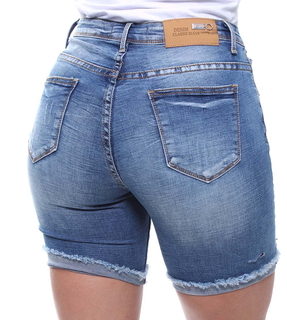 Bermuda 1/2 Coxa Feminina Jeans - 46339