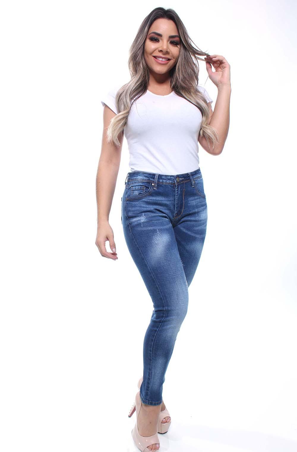 Calça Jeans Feminina Skinny Estonada Crocker - 46394  - CROCKER JEANS