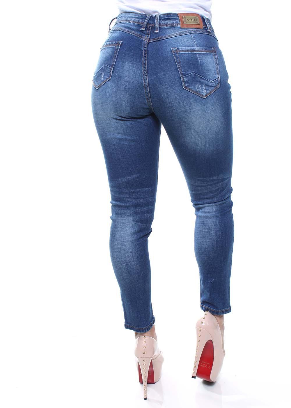 Cigarrete Jeans Feminina Crocker - 46394