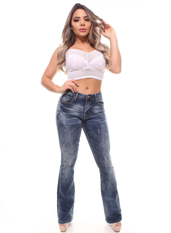 Calça Jeans Feminina Flare Crocker - 46403  - CROCKER JEANS