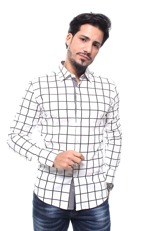 Camisa Estampada Masculina Fit Manga Longa Crocker - 47156
