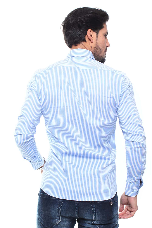 Camisa Masculina Manga Longa Estampada Crocker - 47158