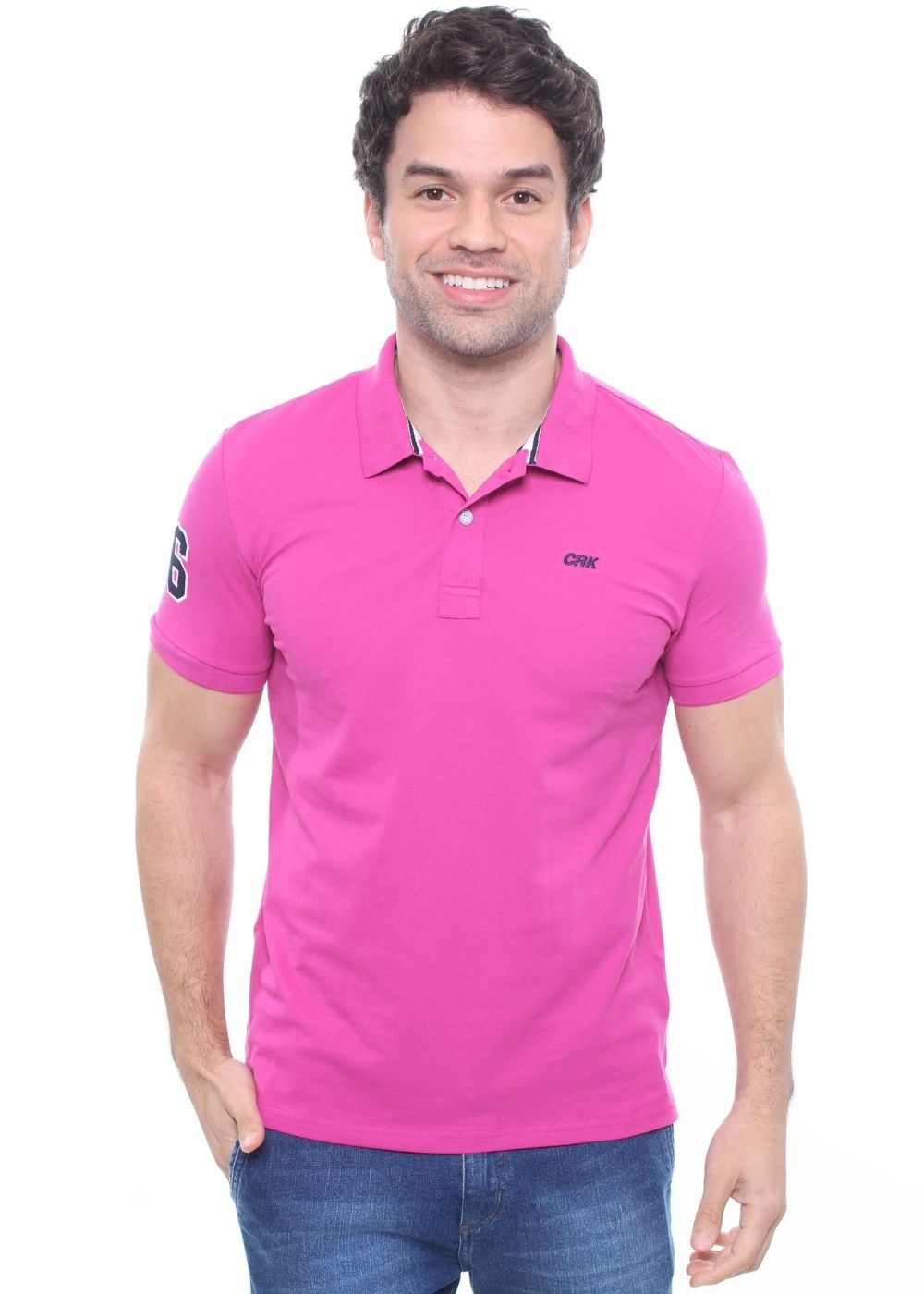 Camisa Gola Polo Piquet Bordada Crocker - 47173