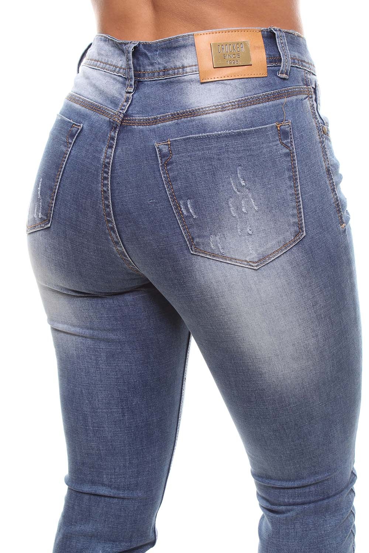 Calça Jeans Feminina Skinny Destroyed Crocker - 46317