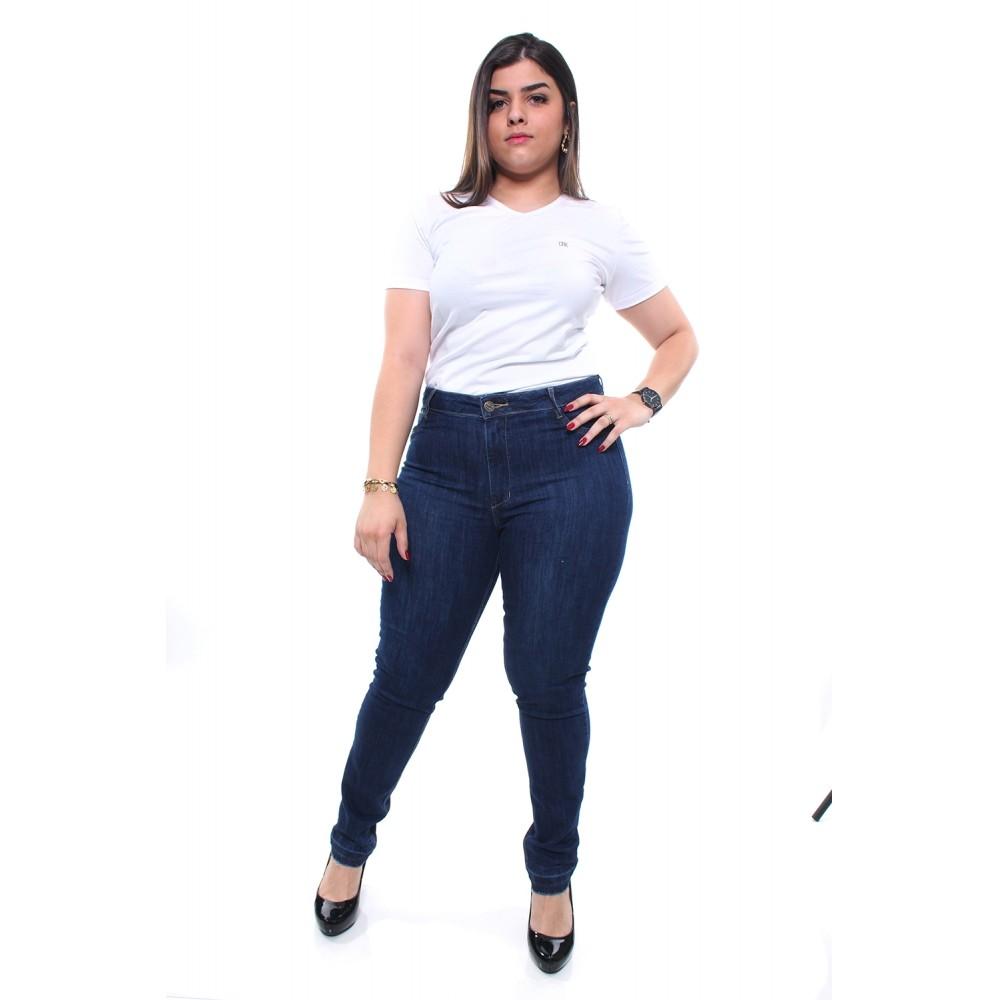 47578 - CALÇA FEMININA SKINNY INTERMEDIÁRIA JEANS