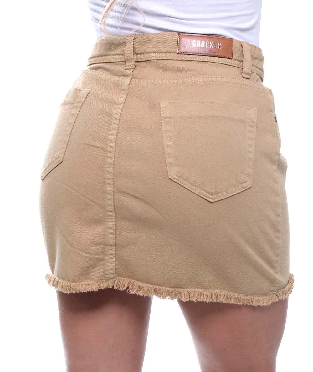 Saia Jeans Curta Feminina Colors Crocker - 47614