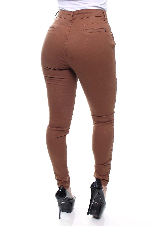 Calça Jeans Feminina Sarja Caramelo Skinny Crocker - 47639