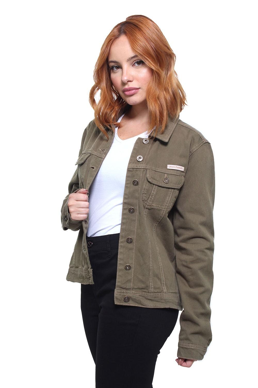 Jaqueta Jeans Feminina Color Crocker - 47652  - CROCKER JEANS