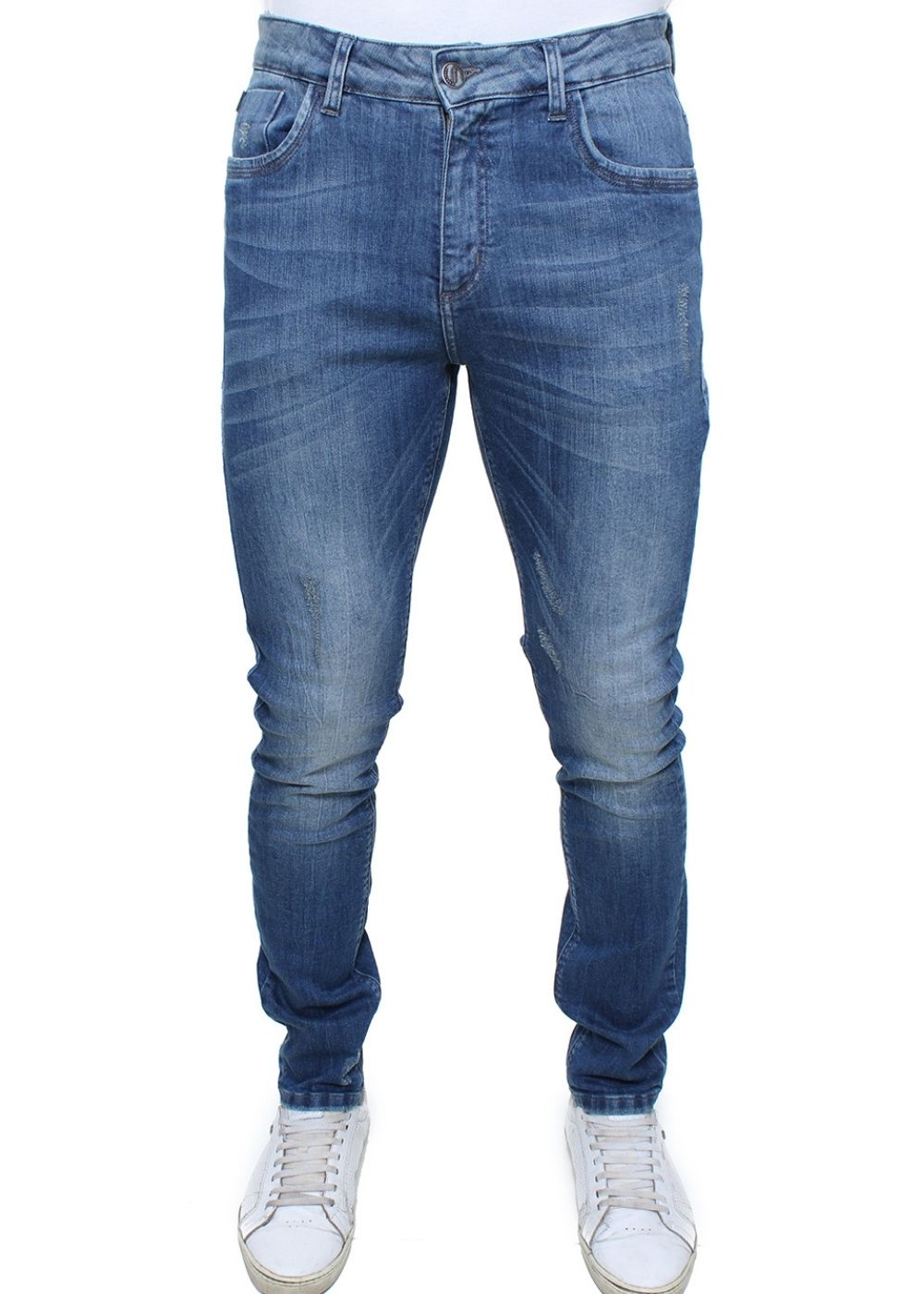Calça Jeans Masculina Estonada Confort Crocker - 47738  - CROCKER JEANS
