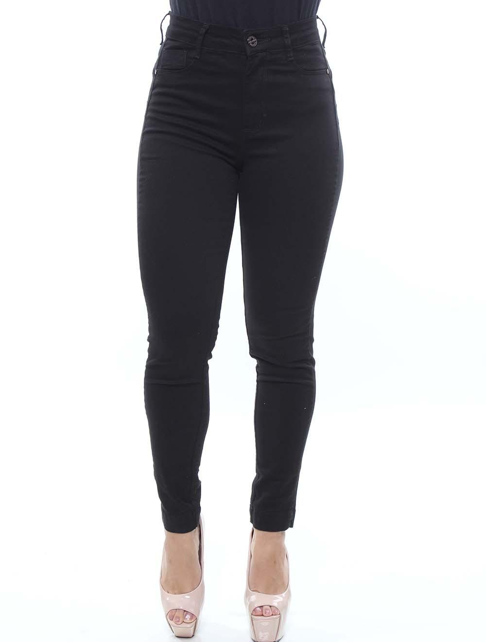 Calça Jeans Feminina Sarja Preta Skinny Crocker - 47773