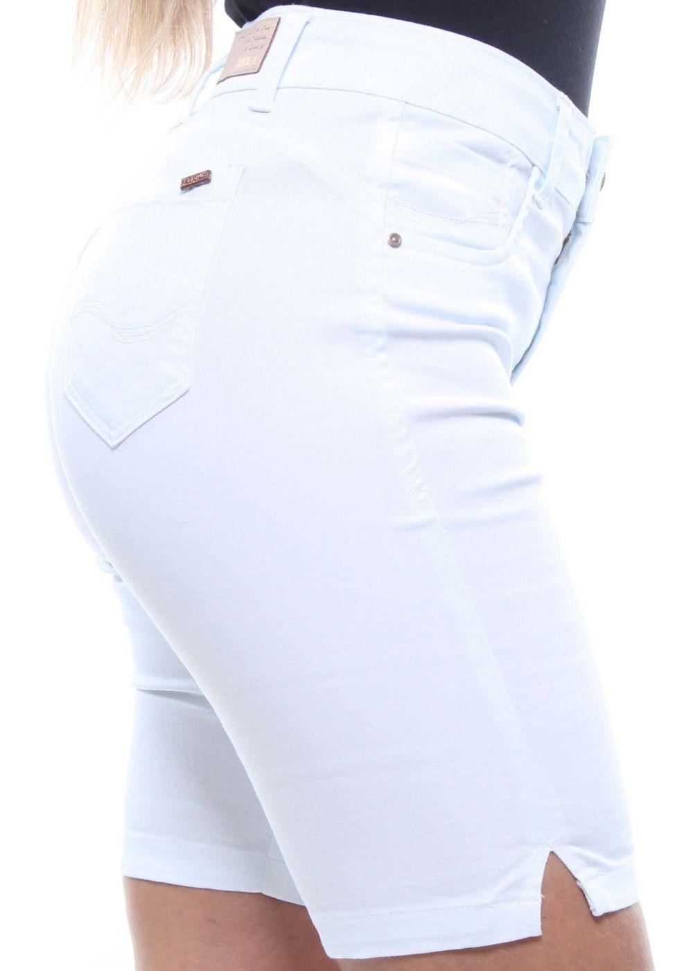 Bermuda Ciclista Jeans Feminina Branca Crocker - 47831  - CROCKER JEANS