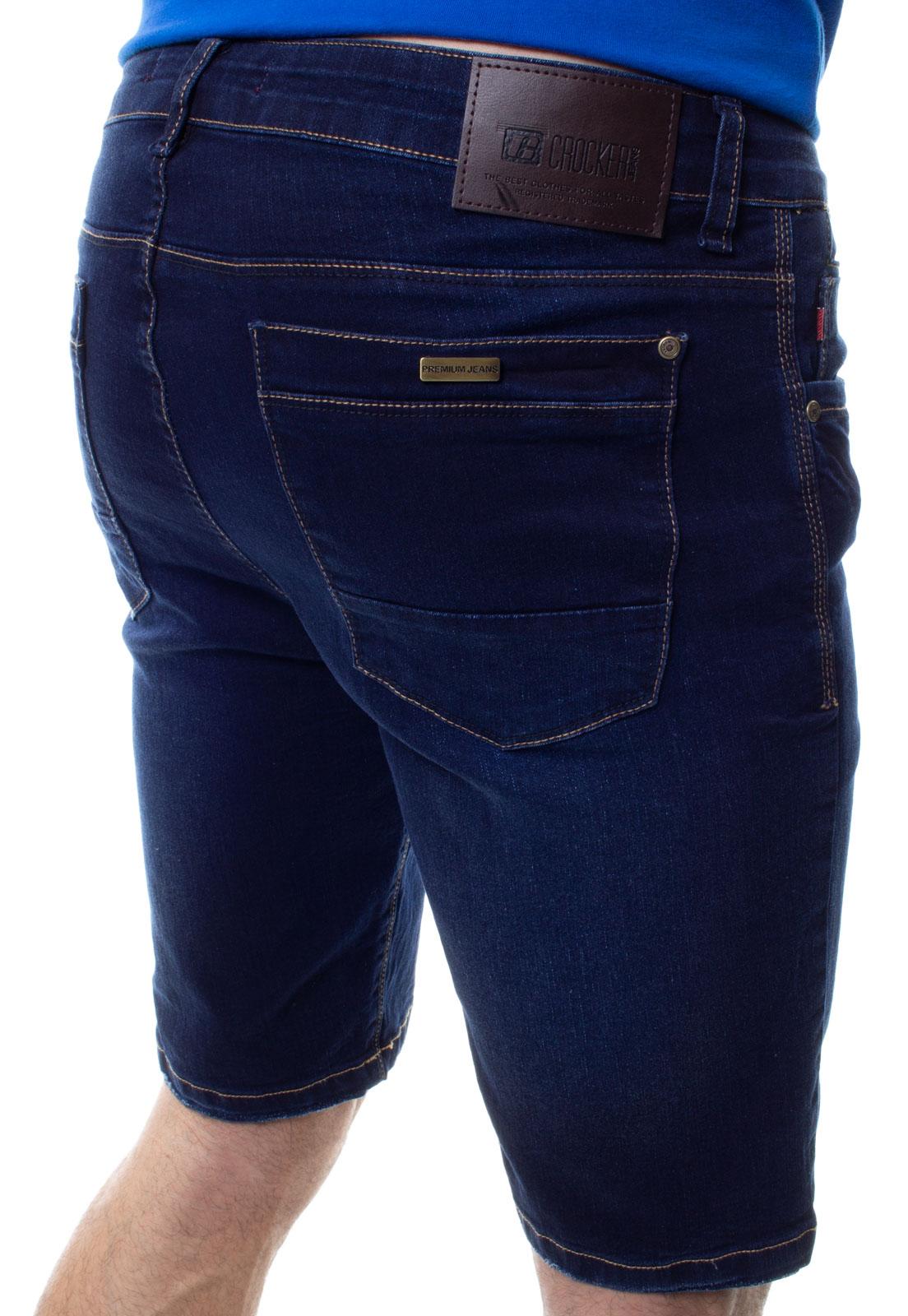 Bermuda Confort Jeans Masculina Crocker - 48273  - CROCKER JEANS