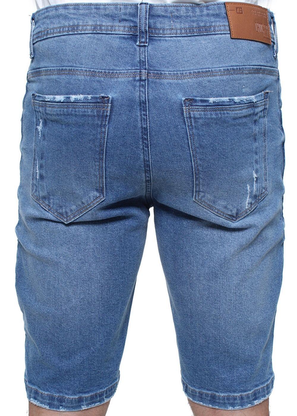 Bermuda Jeans Masculina Destroyed Confort Crocker - 47766  - CROCKER JEANS