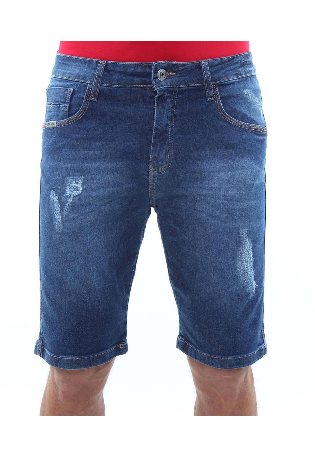 Bermuda Jeans Masculina Confort Crocker - 47792  - CROCKER JEANS