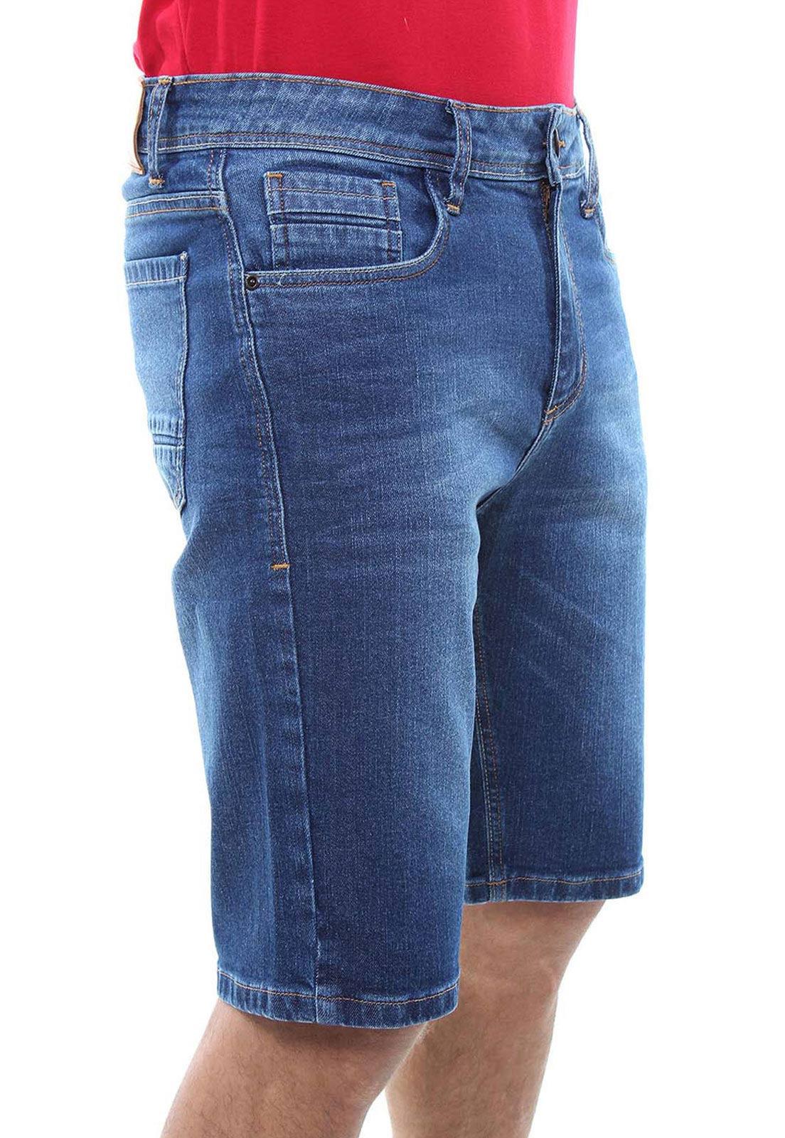 Bermuda Jeans Masculina Confort Crocker - 47838