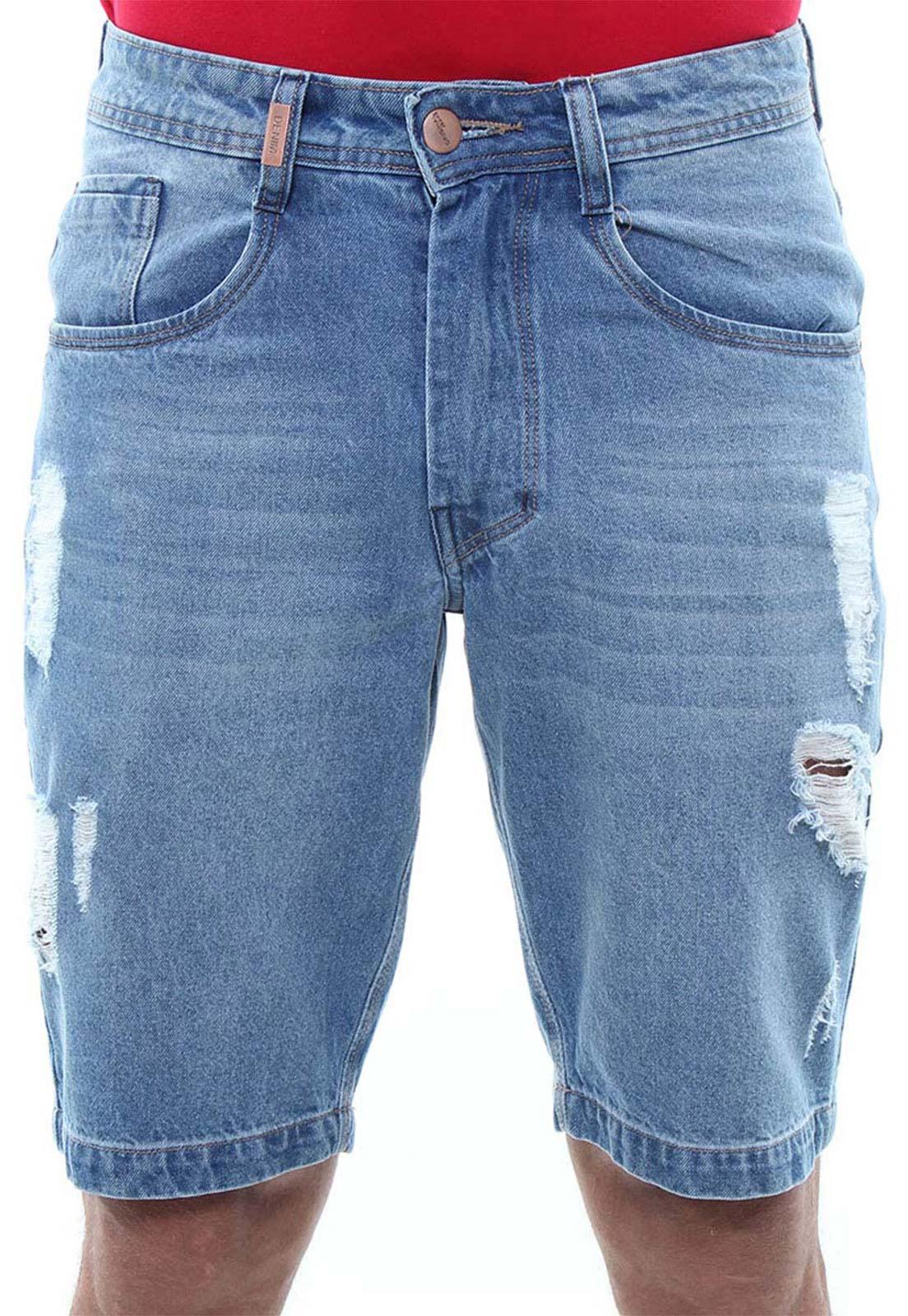Bermuda Jeans Masculina Destroyed Confort Crocker - 47763  - CROCKER JEANS