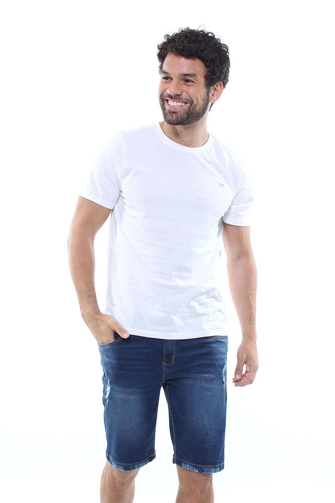 Bermuda Jeans Masculina Destroyed Confort Crocker - 47788  - CROCKER JEANS