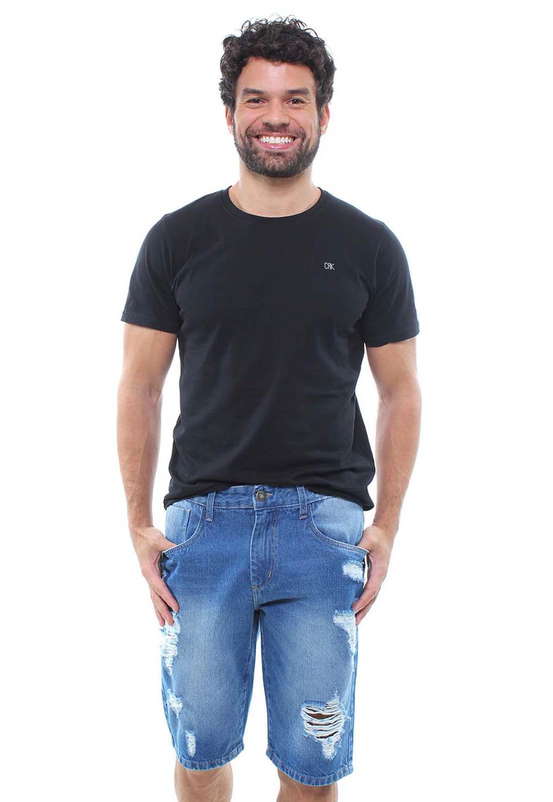 Bermuda Jeans Masculina Destroyed Crocker - 47789  - CROCKER JEANS