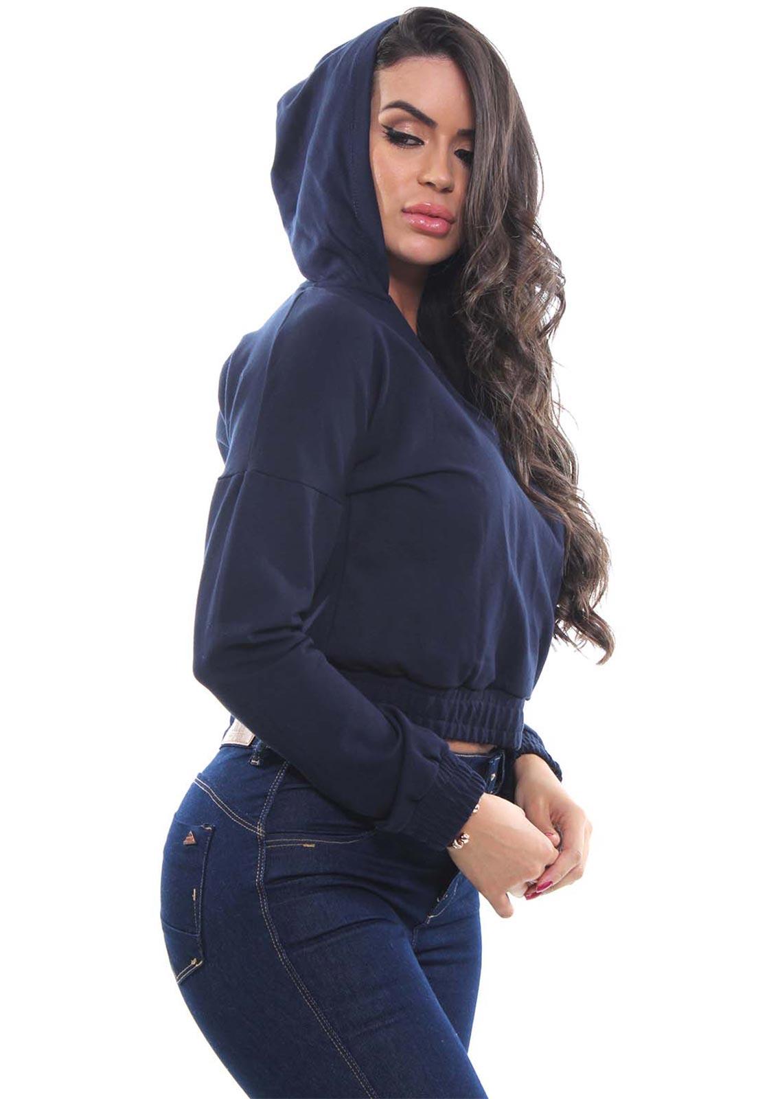 Blusa Moletinho Feminina Com Capuz Crocker - 47954  - CROCKER JEANS