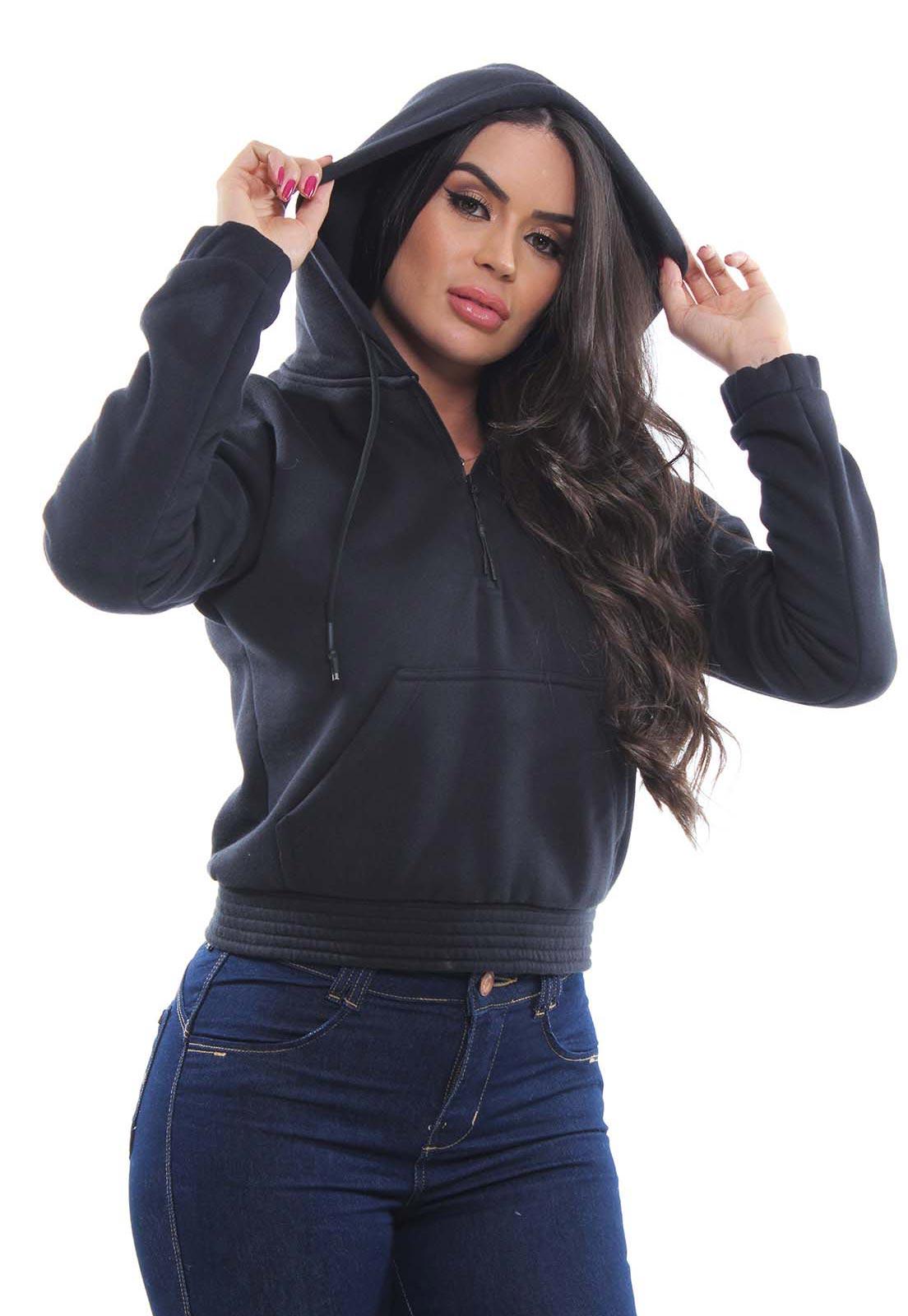 Blusa Moletom Feminina Com Capuz Crocker - 47948  - CROCKER JEANS