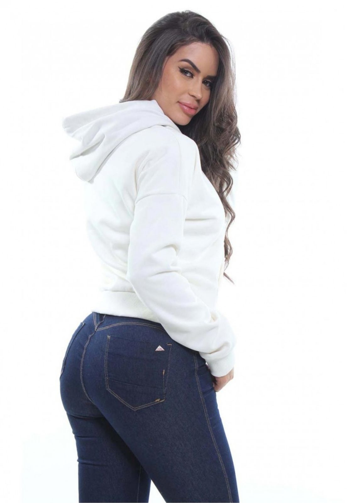 Blusa Moletom Feminina Com Capuz Crocker - 47958  - CROCKER JEANS