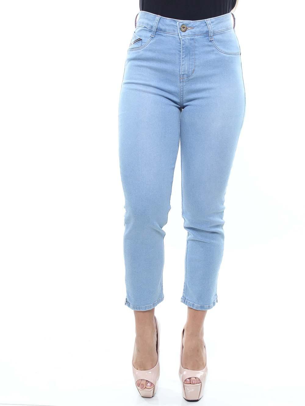 Calça Capri Jeans Feminina Crocker - 47752