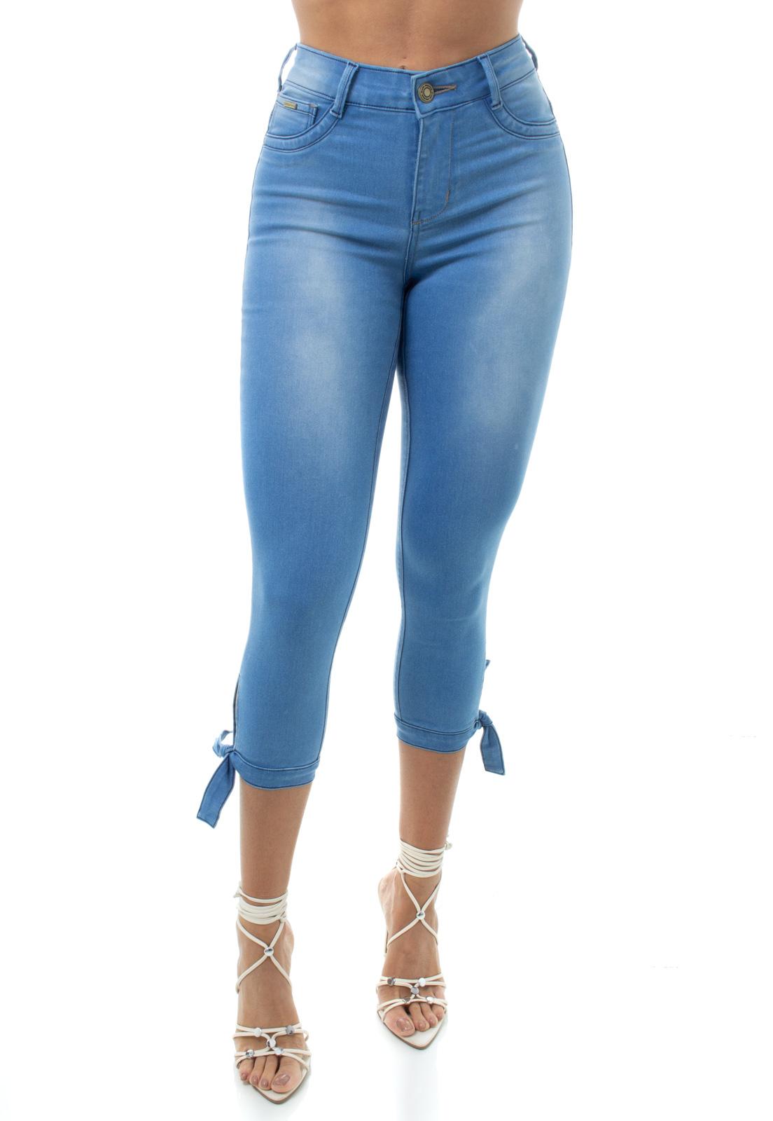 Calça Capri Jeans Feminina Crocker - 48141  - CROCKER JEANS