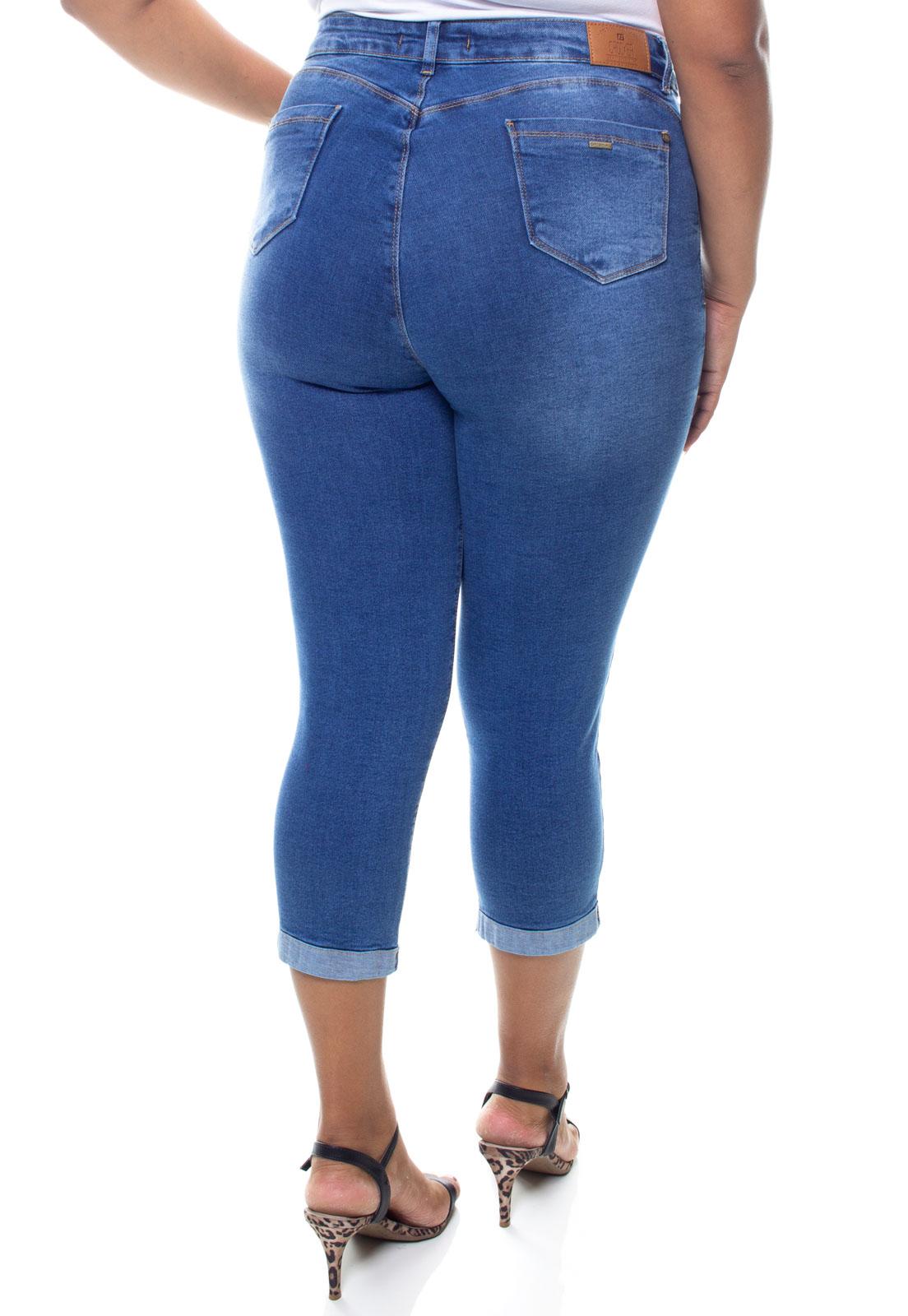 Calça Capri Jeans Feminina Plus Size Crocker - 47755  - CROCKER JEANS