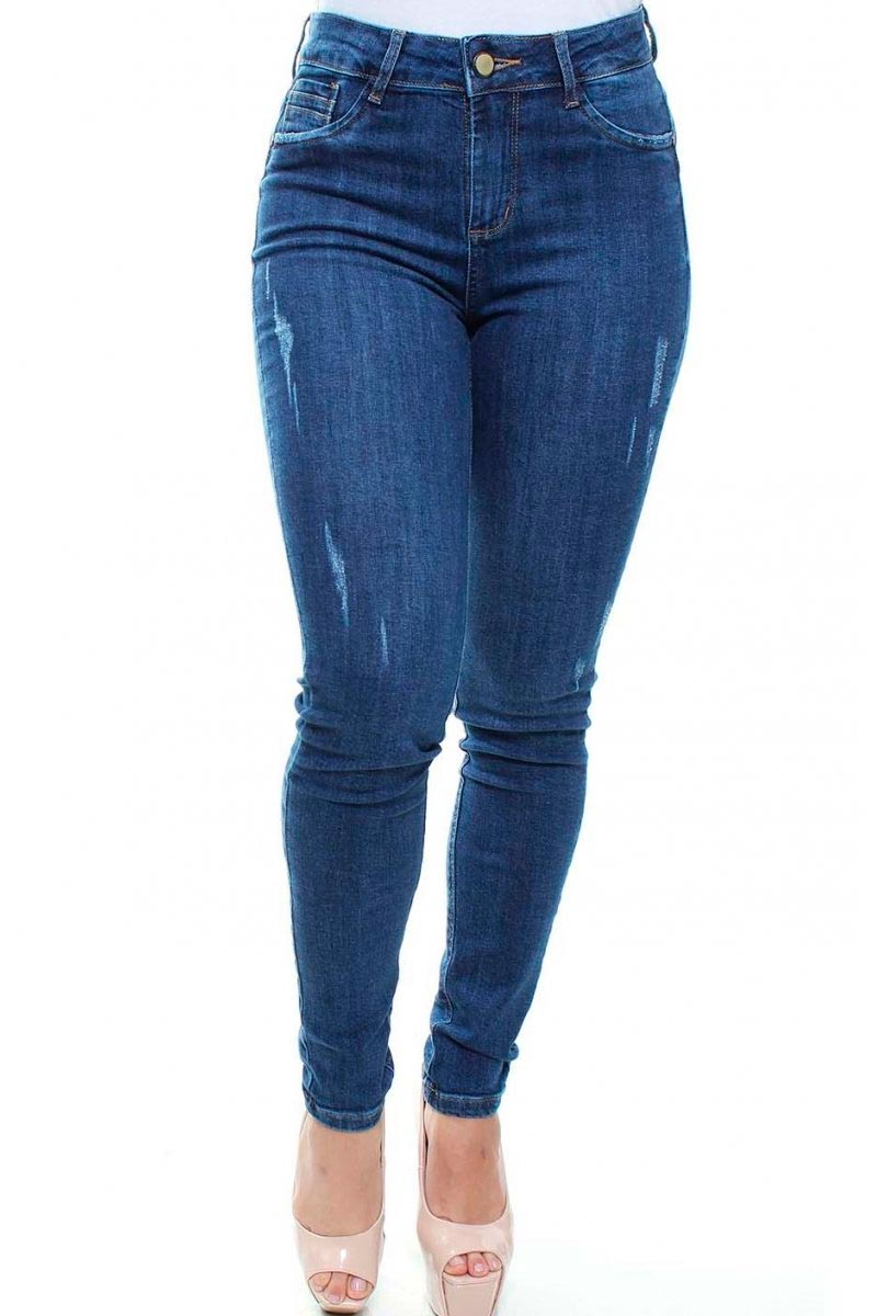 Calça Jeans Feminina Destroyed Skinny Crocker - 47573