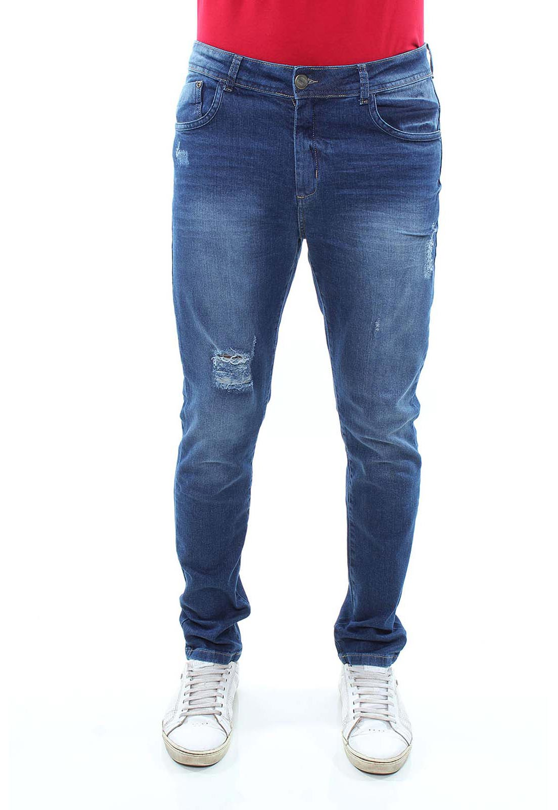 Calça Confort Jeans Masculina Crocker - 47793