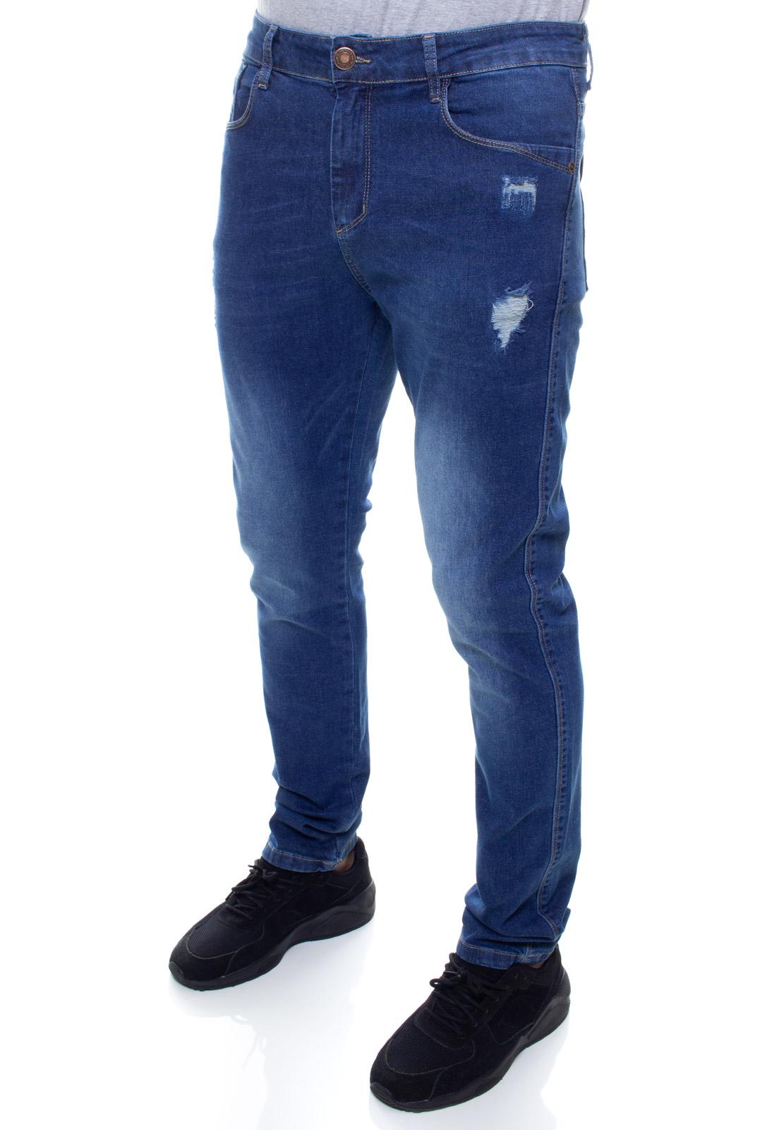 Calça Confort Jeans Masculina Crocker - 48067  - CROCKER JEANS