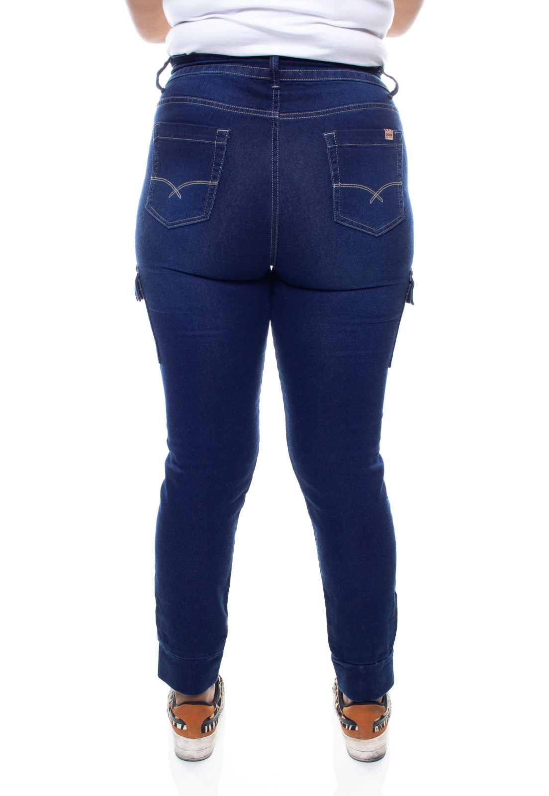 Calça Jeans Plus Size Feminina Bolso Cargo Crocker - 47708  - CROCKER JEANS