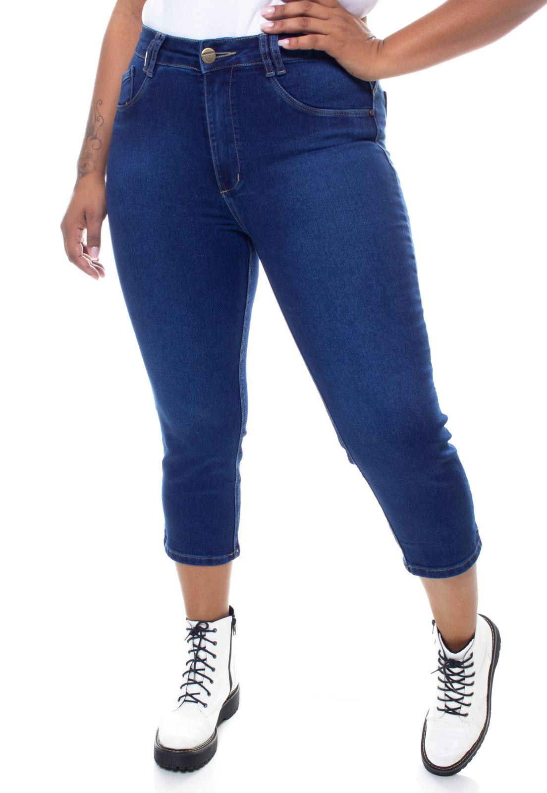Calça Jeans Plus Size Feminina Capri Crocker - 47770  - CROCKER JEANS