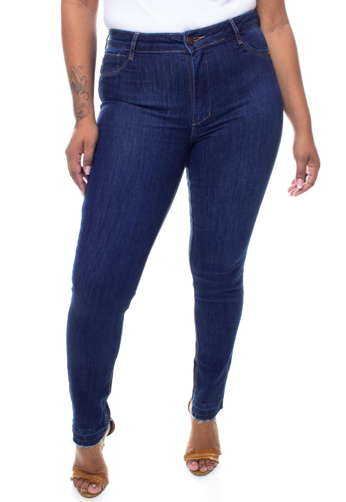 Calça Jeans Plus Size Feminina Skinny Barra Desfiada Crocker - 47578  - CROCKER JEANS