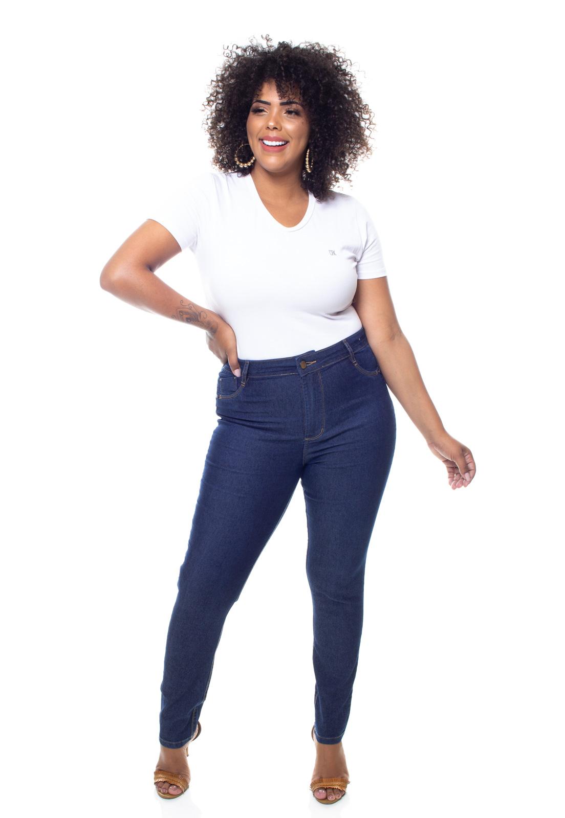 Calça Jeans Plus Size Feminina Skinny  Crocker - 47579  - CROCKER JEANS