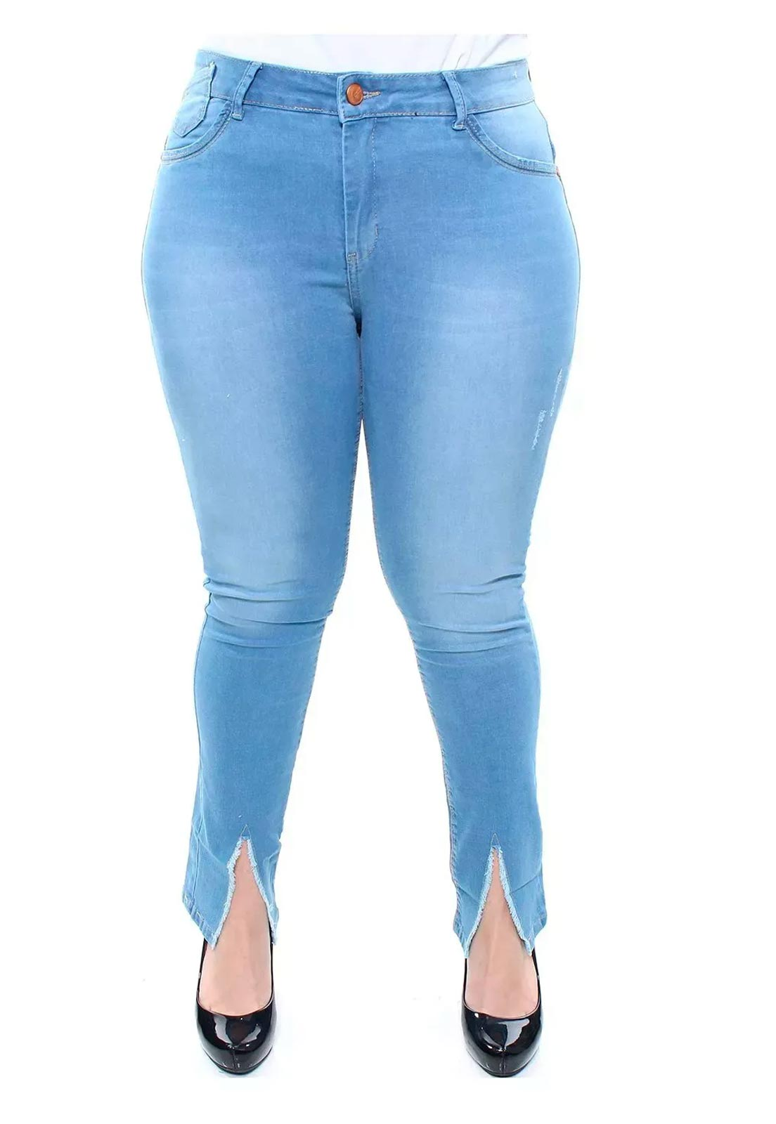 Calça Jeans Plus Size Feminina Skinny Destroyed Crocker - 47538  - CROCKER JEANS