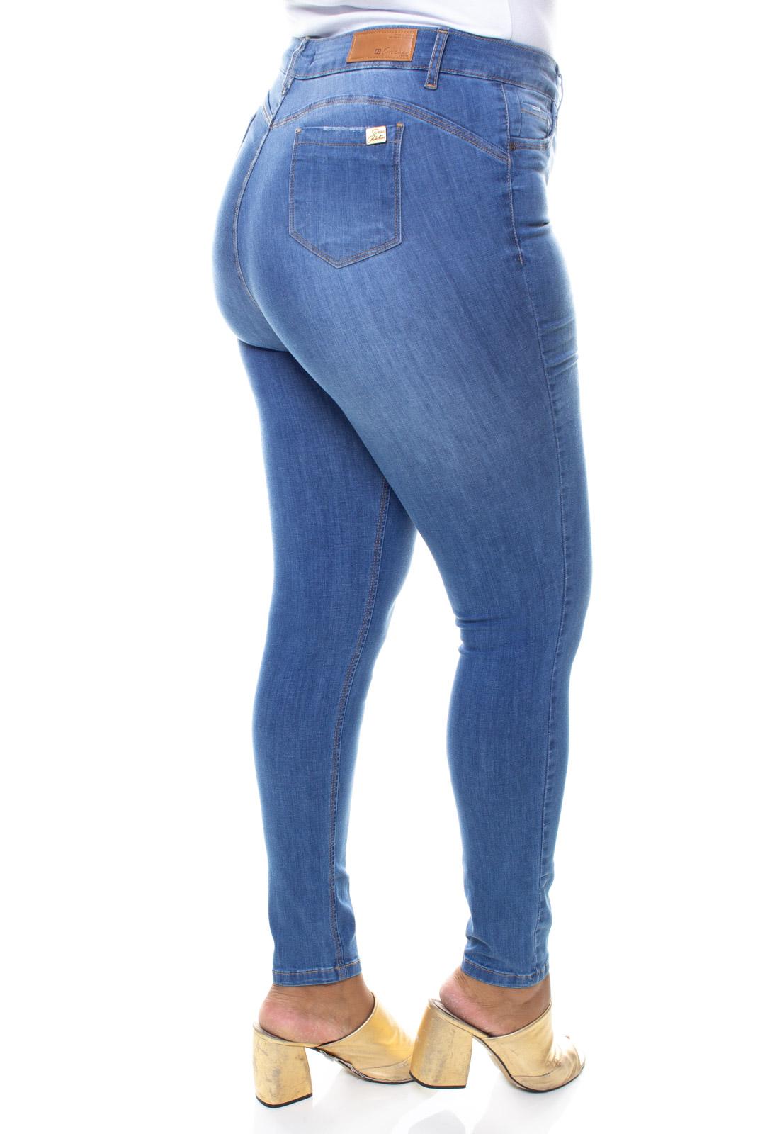 Calça Jeans Plus Size Feminina Skinny Estonada Crocker - 47576  - CROCKER JEANS