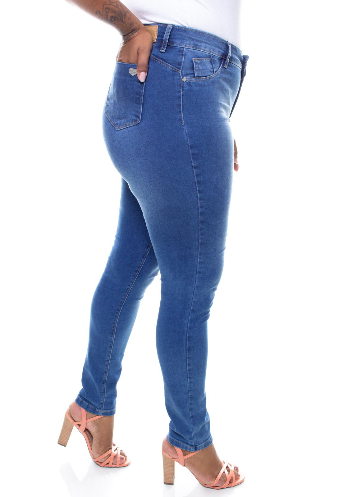 Calça Jeans Plus Size Feminina Skinny Estonada Crocker - 47577  - CROCKER JEANS