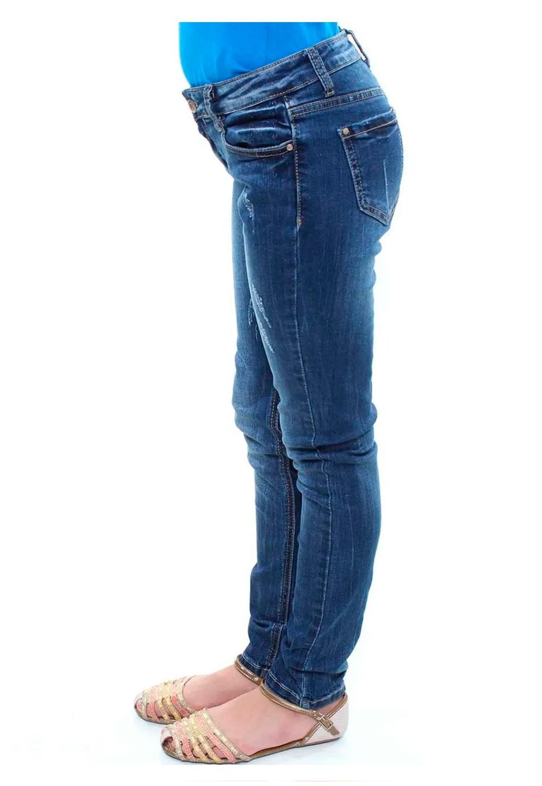 Calça Jeans Skinny Juvenil Feminina Crocker - 45931