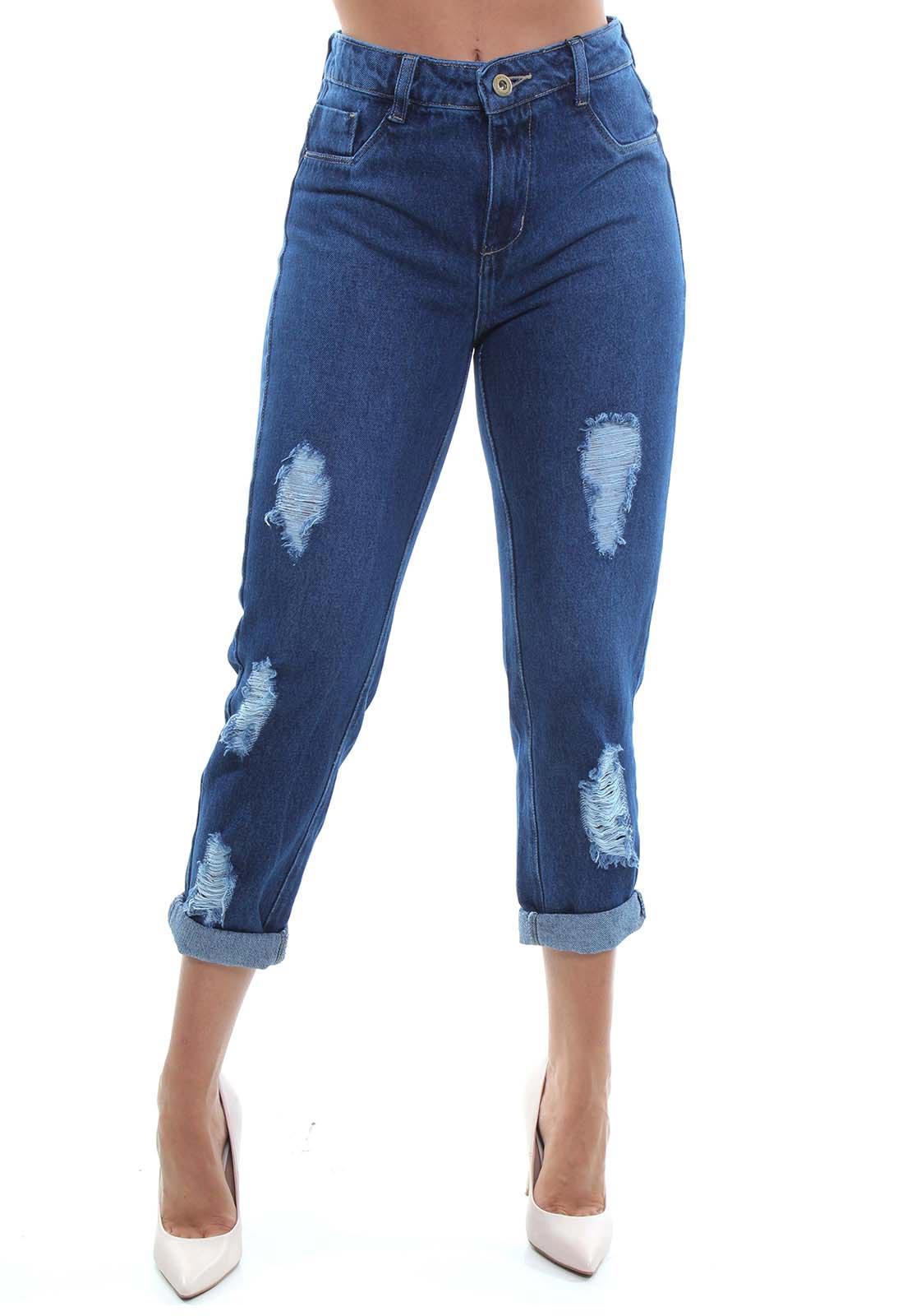 Calça Mom Fit Jeans Feminina Crocker - 48043  - CROCKER JEANS