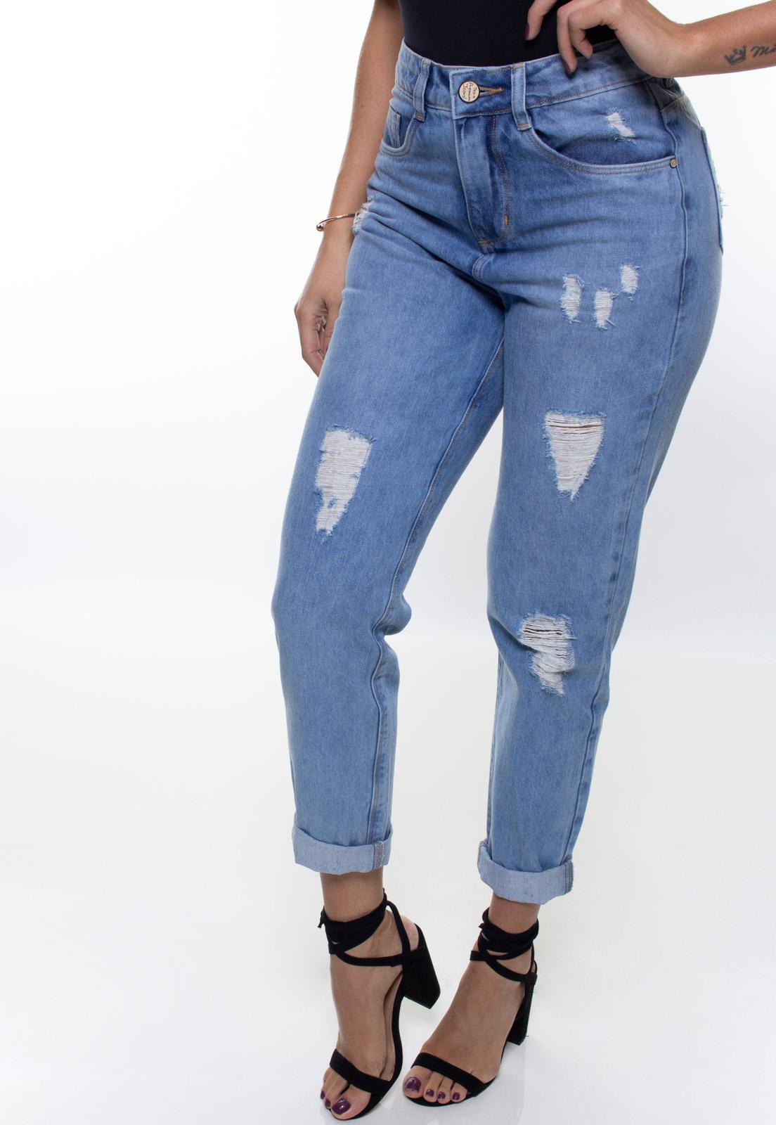 Calça Mom Fit Jeans Feminina Crocker - 48089  - CROCKER JEANS
