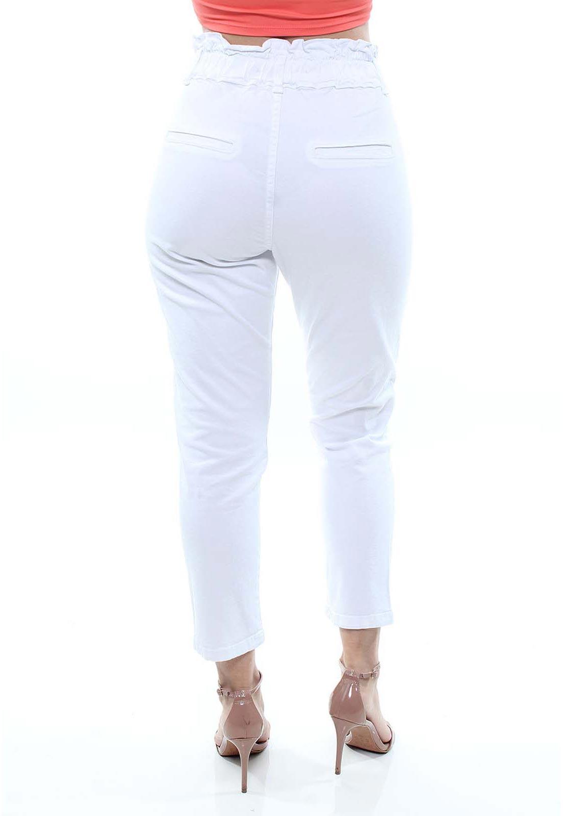 Calça Jeans Feminina Sarja Clochard Branca Crocker - 47717  - CROCKER JEANS
