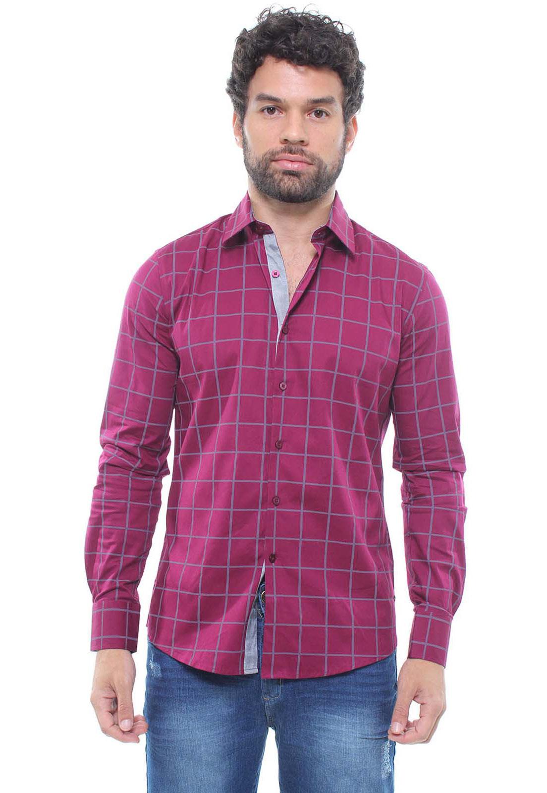 Camisa Estampada Masculina Fit Manga Longa Crocker - 47155  - CROCKER JEANS