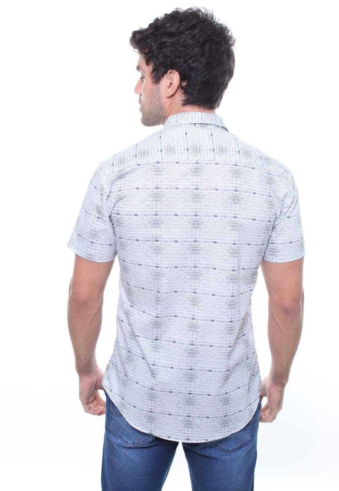 Camisa Estampada Masculina Manga Curta Crocker - 47826  - CROCKER JEANS