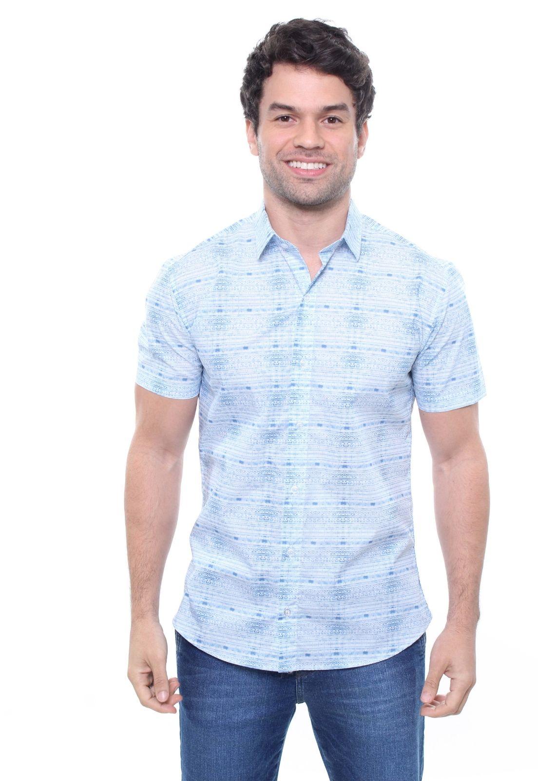 Camisa Estampada Masculina Manga Curta Crocker -  47827  - CROCKER JEANS
