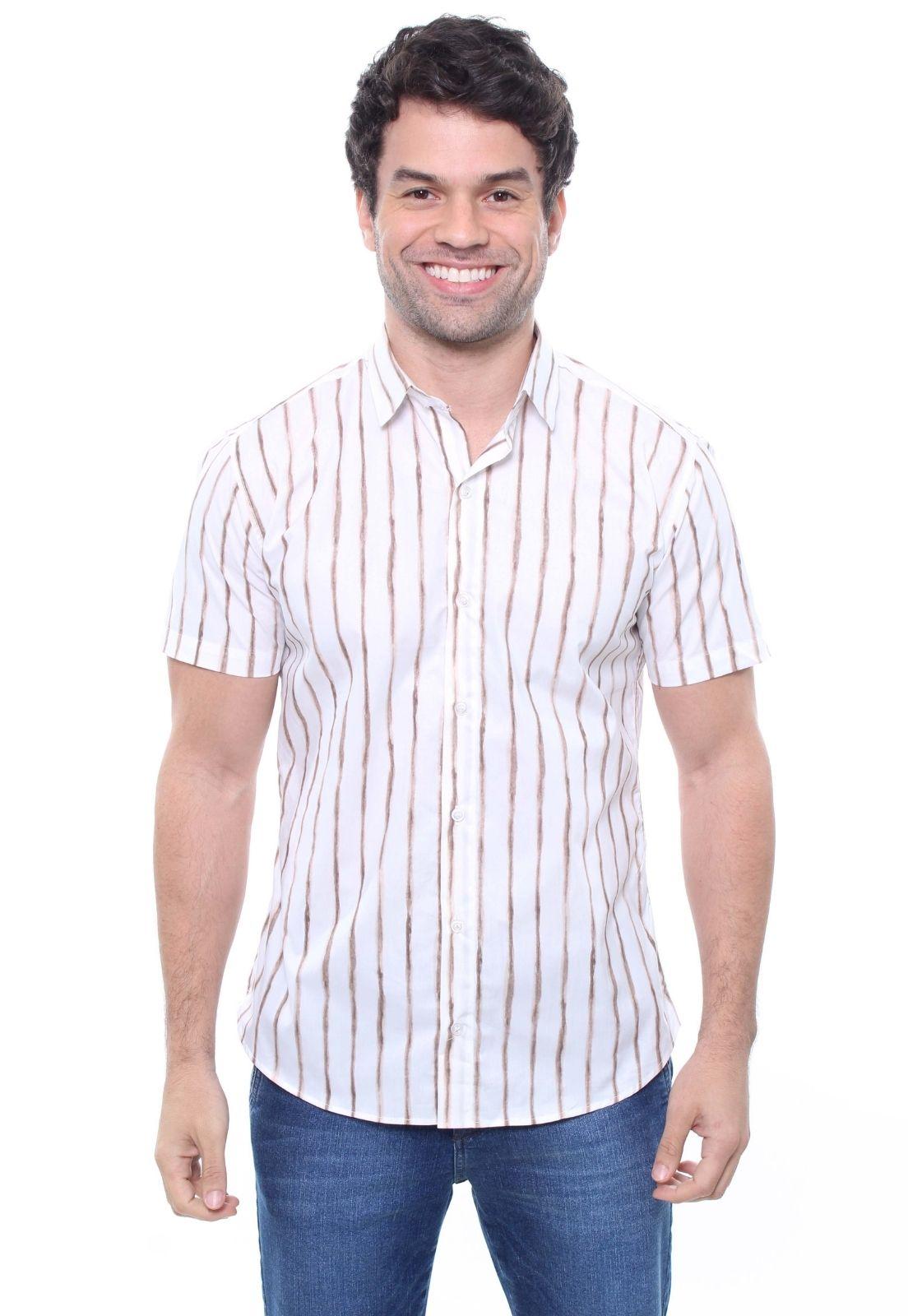 Camisa Estampada Masculina Manga Curta Crocker -  47830  - CROCKER JEANS