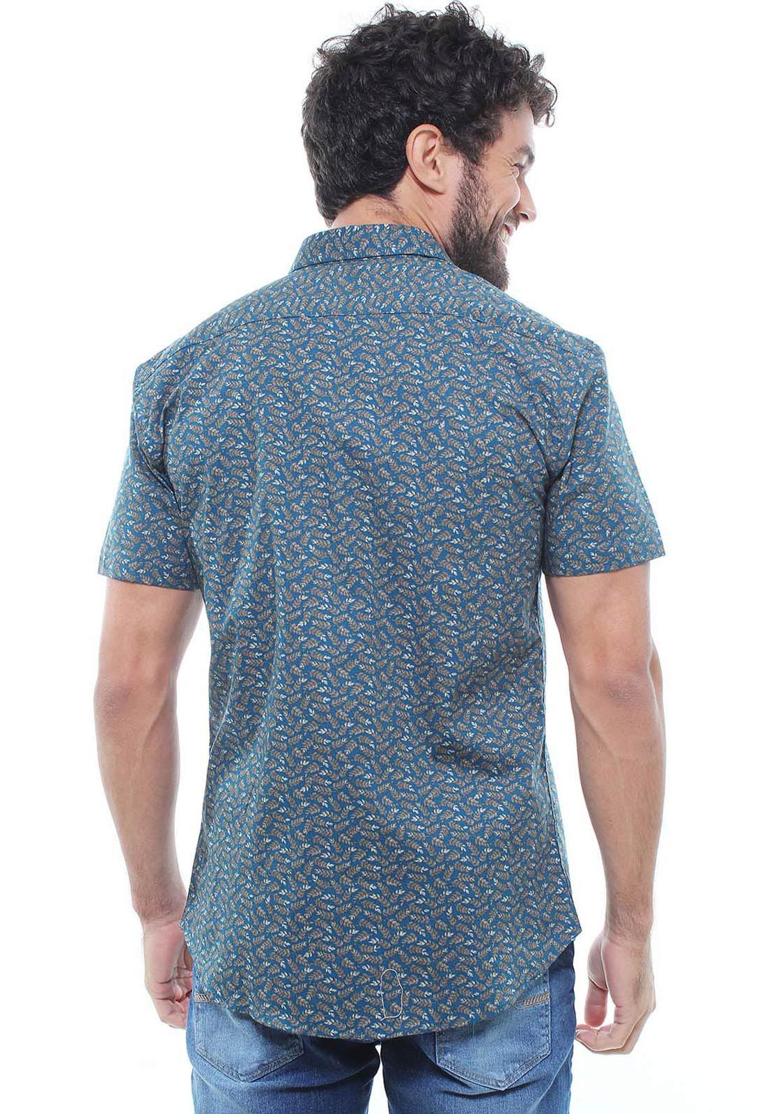 Camisa Estampada Masculina Manga Curta Crocker - 47930  - CROCKER JEANS