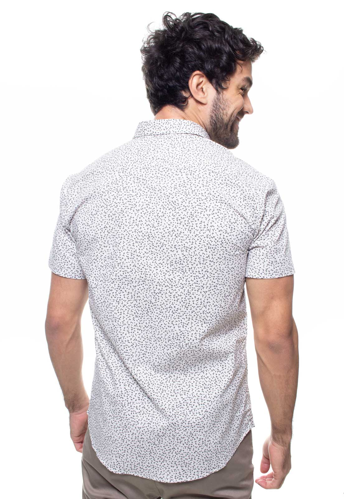 Camisa Estampada Masculina Manga Curta Crocker -  47933  - CROCKER JEANS