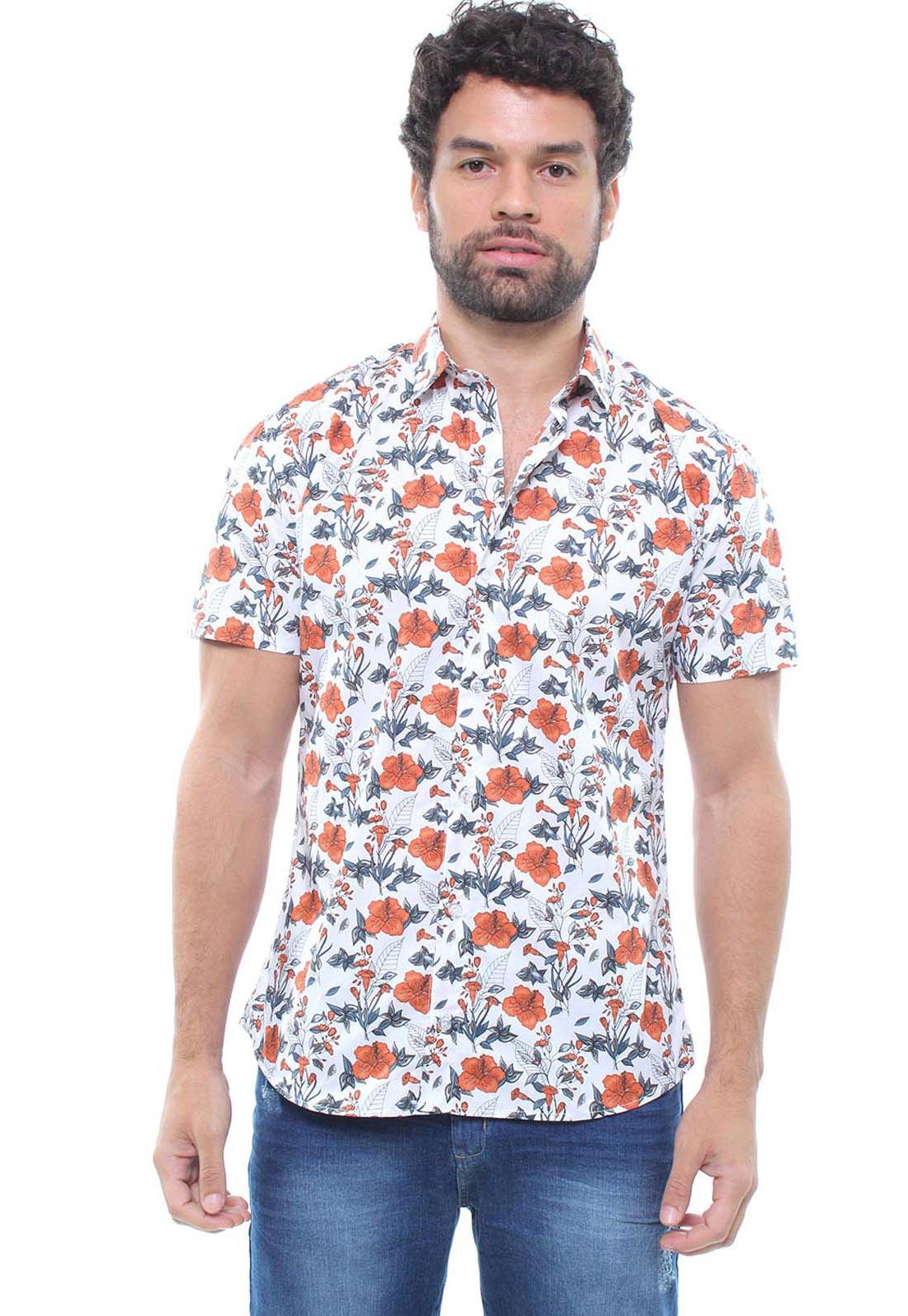 Camisa Estampada Masculina Manga Curta Crocker -  47934
