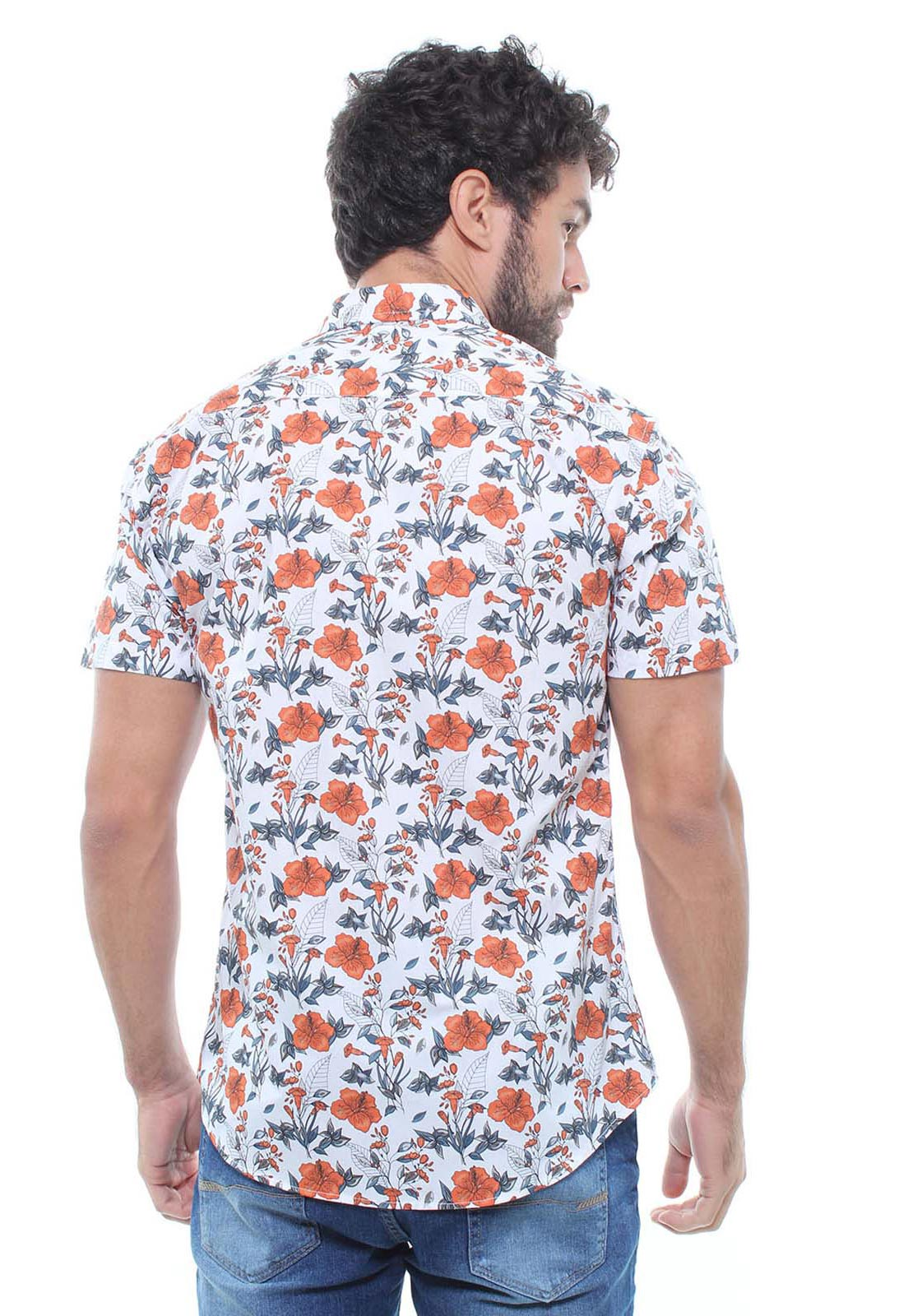 Camisa Estampada Masculina Manga Curta Crocker -  47934  - CROCKER JEANS